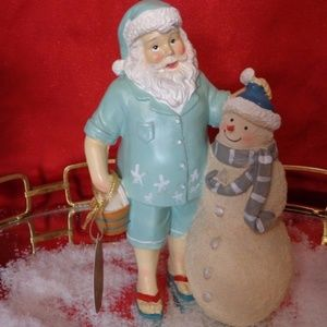 Other - Coastal Nautical Christmas Santa Snowman Figurine